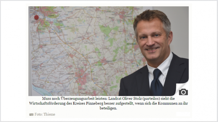 Landrat Oliver Stolz wirbt für die neue WEP